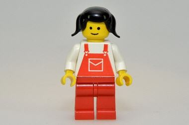 Overall, rot, Mädchen, Lego