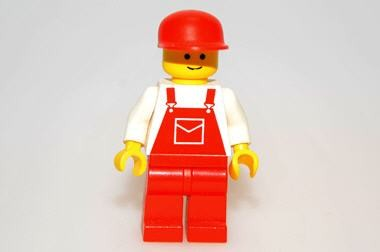 Overall, rot, Lego